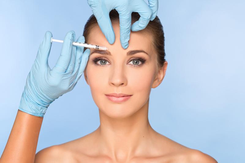 botox toxina botulínica tipo A mujer